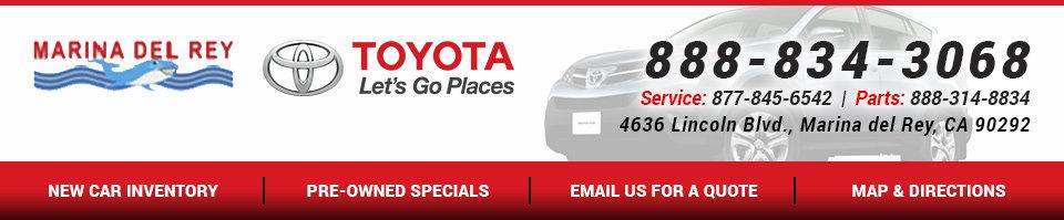 Nice Marina Del Rey Toyota  Header