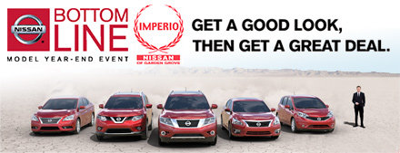Imperio Nissan New Car Specials Nissan for sale in Garden Grove